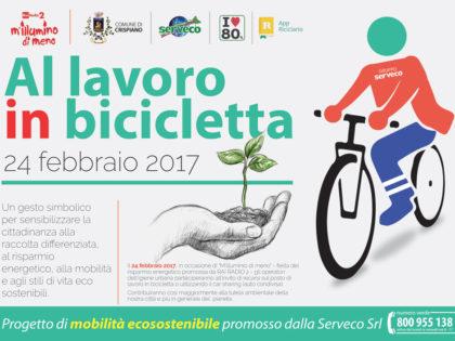 """M'Illumino di Meno. Anche a Crispiano gli operatori d'igiene urbana """"A lavoro in Bicicletta!"""