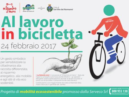 """M'Illumino di Meno. A San Vito dei Normanni """"A lavoro in Bicicletta!"""""""
