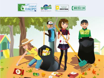 Let's Clean Up 2017. Aiutiamo a tenere pulito l'Ambiente.