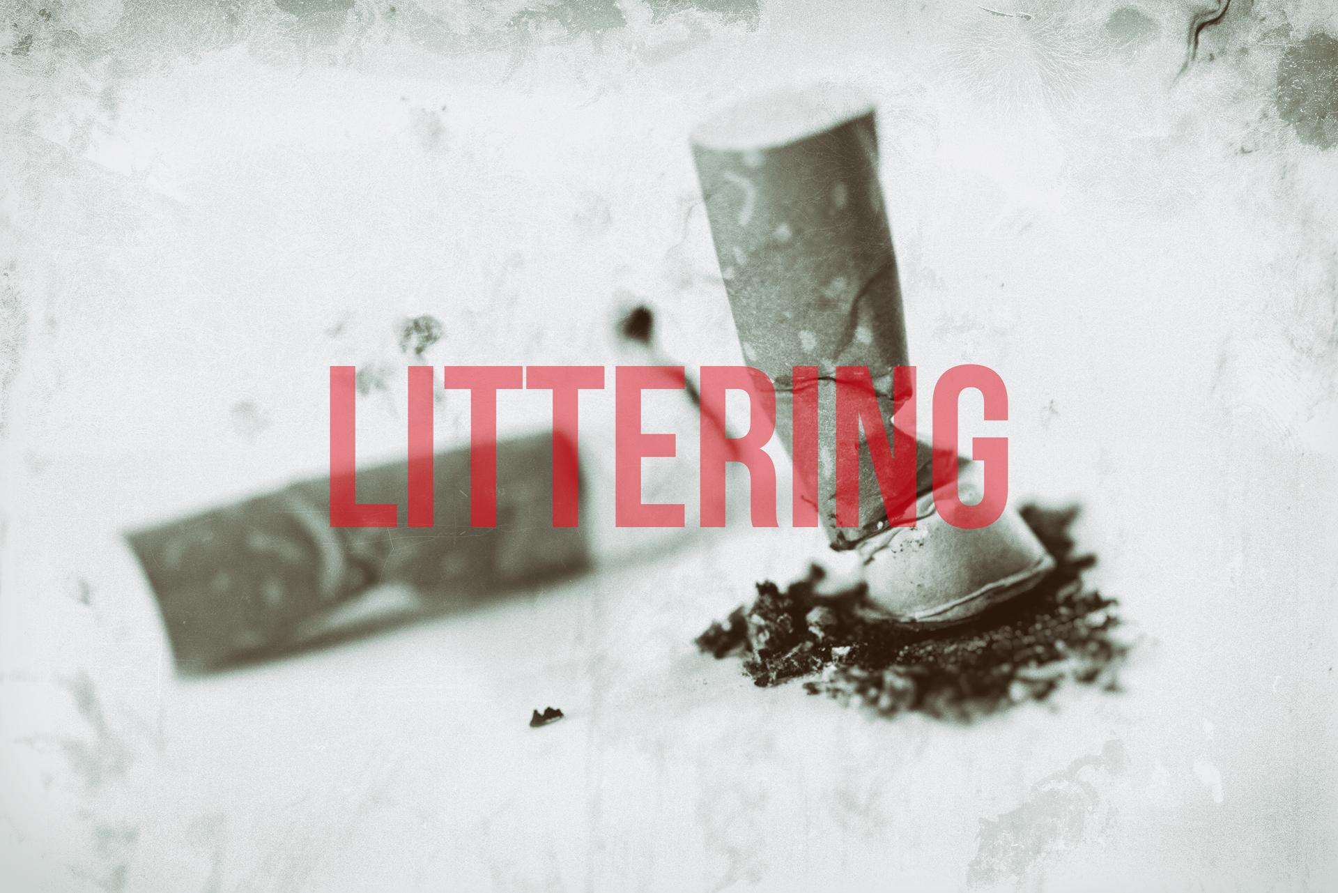 littering, non abbandonare i rifiuti per terra