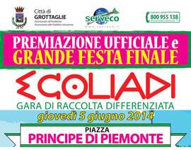 Ecoliadi Grottaglie. Premiazione ufficiale e grande festa finale