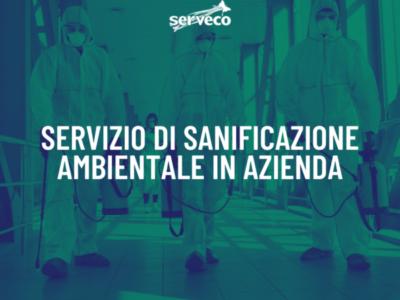 Coronavirus: servizio di sanificazione ambientale in azienda