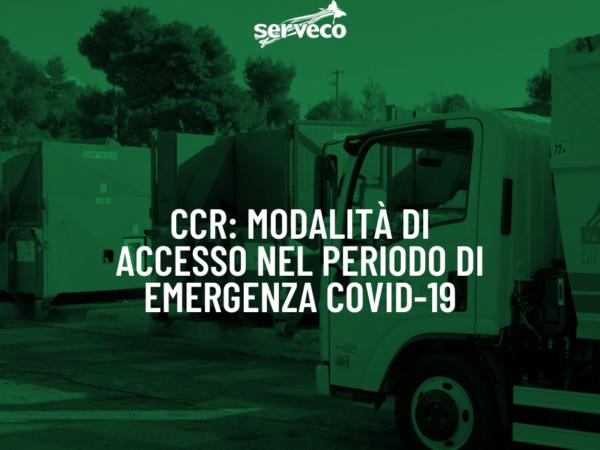 CCR: modalità di accesso nel periodo di emergenza COVID-19